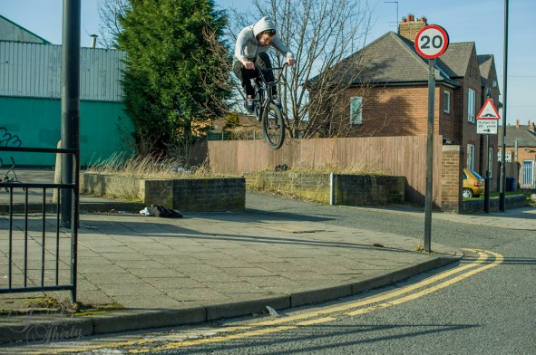Newrick fires out the gap over the pavement