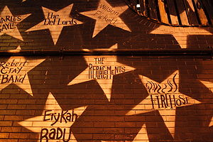 The Replacements star on the wall - photo from Wikimedia Commons