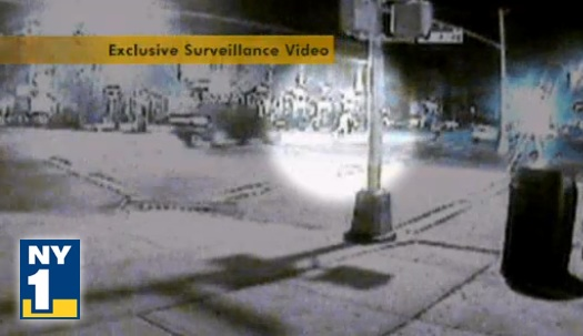 Security camera footage shows yesterday's deadly hit-and-run in Bensonhurst. Image: NY1.