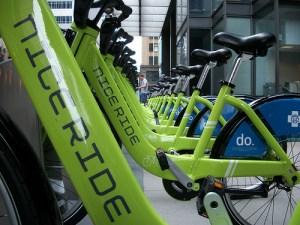 Minneapolis' bike-share system has only had __ stolen bike, but it's not just because they're Minnesota nice. Theft and vandalism haven't been a problem for American bike-sharing systems. Photo: __.