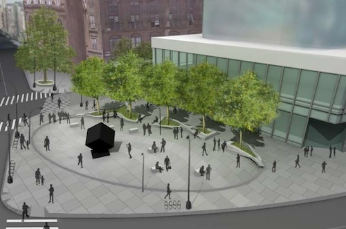 New plazas would return Astor Place to pedestrians. Image: DDC.
