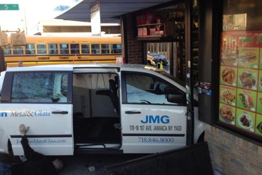 Motorists Crash Into Businesses in Queens and Brooklyn