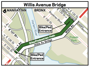 If it looks like a bike path and is marked as a bike path, NYPD will ticket you for cycling on it. Image: DOT