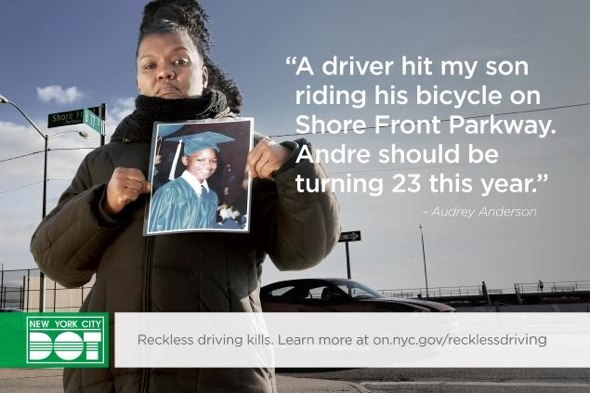 Audrey Anderson's 14-year-old son Andre was killed by a motorist while riding his bike in 2005.