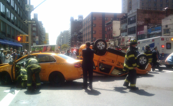 Hard to see a downside to preventing ##http://www.streetsblog.org/2009/08/28/another-view-of-yesterdays-cab-crash/##scenarios like this##. Photo: Trish Naudon-Thomas