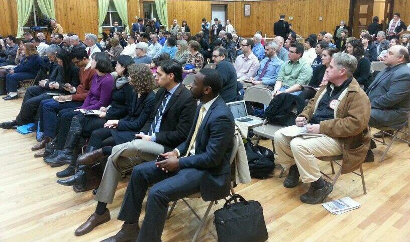 More than 100 people turned out for last night's meeting. Photo: Stephen Miller
