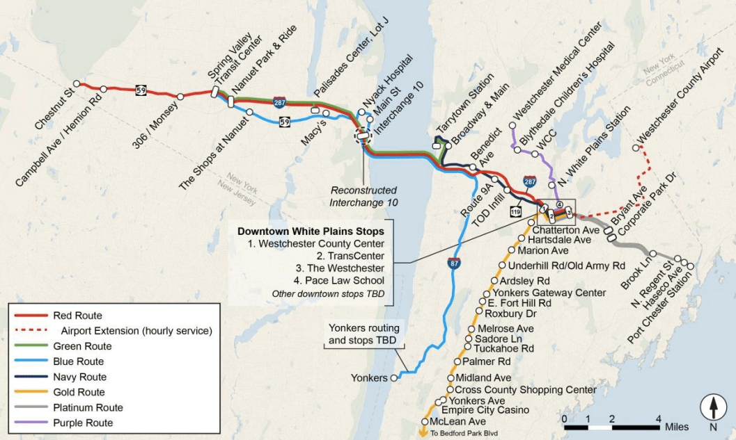 Looks nice, but will the state follow through on building this system before the new Tappan Zee Bridge opens in 2018? Map: New NY Bridge