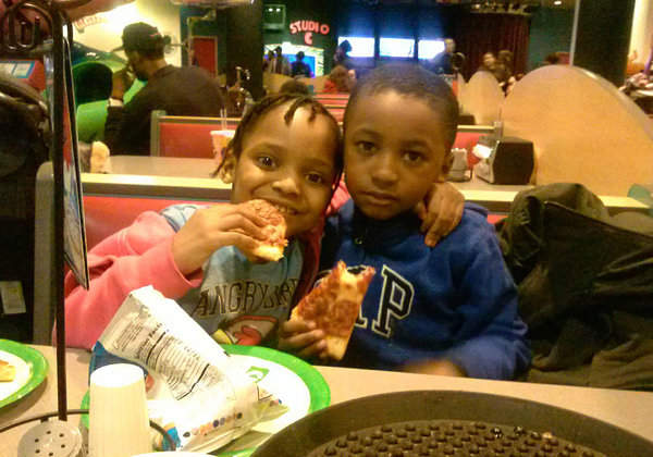 Roshard Charles, 5, (right) was walking with his mother when a driver backed over him and fled the scene. Photo: ##http://www.nytimes.com/2014/03/18/nyregion/child.html?ref=todayspaper&_r=1##NY Times##