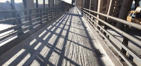 Things were no better on the Queensboro Bridge this morning. Photo: Jeremy Lenz/Twitter