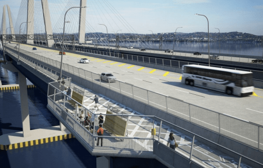 That bus now has $20 million behind it, but more work remains before service can begin. Image: Tappan Zee Constructors/HDR Engineering