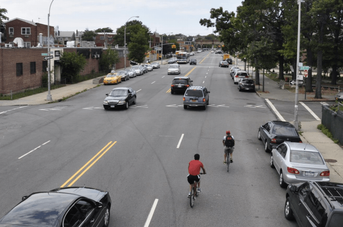 Broadway in Woodside is slated for a road diet. Photo: DOT