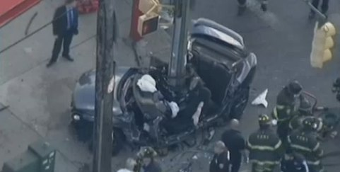The Brooklyn precinct where two people were killed in a high-speed crash Monday had issued 54 speeding tickets this year as of March. Image: ##http://www.nbcnewyork.com/news/local/Death-Brooklyn-Car-Crash-Marine-Park-259868361.html##WNBC##