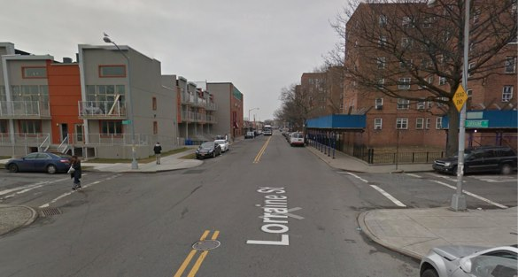 Witnesses say a driver hit 14-year-old Nicholas Soto with enough force to throw him away from the street and over a nearby fence. NYPD filed no charges. Image: Google Maps