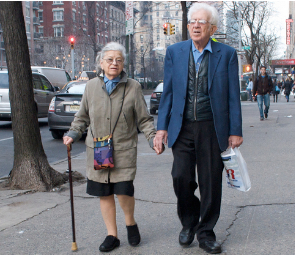 Forty percent of NYC voters age 50 and older say drivers who fail to yield to pedestrians are a major problem. Photo: ##https://www.flickr.com/photos/yourdon/3275748024/in/photolist-5Zt4Ld-dFcMWT-6q5iaQ-92igFP-6Hm3eQ-6b8ndc-6bcvWj-6bcw7f-8rRi4-5pNDRz-7amntd-5pSX41-5pSX5C-aB9UGE-9rYm1g-9rYkwB-9s2jgL-9rYkga-9rYmBr-9s2iU3-9s2hVL-9rYk9K-9s2hH3-9s2i2W-9s2k3S-9s2jQo-9rYn74-9s2jUb-9rYmWH-9rYmuR-9rYknK-9rYmn8-9s2jHm-9s2j5m-9s2aUb-9s2jM5-7aCU1j-hW1dK-7bshZ7-518C71-kSWWt-7ajcDV-4rkx5x-9s2hob-9rYmyB-9s2ik7-gyChfz-4ua1XN-caW7cJ-9TqDDm##Ed Yourdon/Flickr##