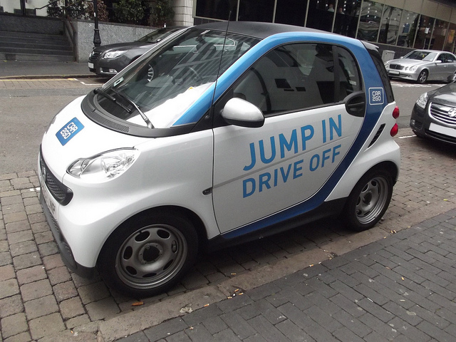 Car2Go, which sells point-to-point car-share by the minute, appears to be gearing up for a Brooklyn launch. Photo: Elliott Brown/Flick