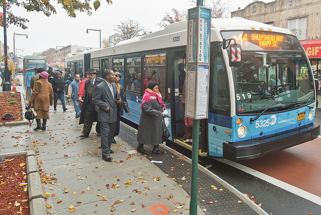 Select Bus Service is a big step up from the pokey local bus, but what's next? Photo: MTA/Flickr