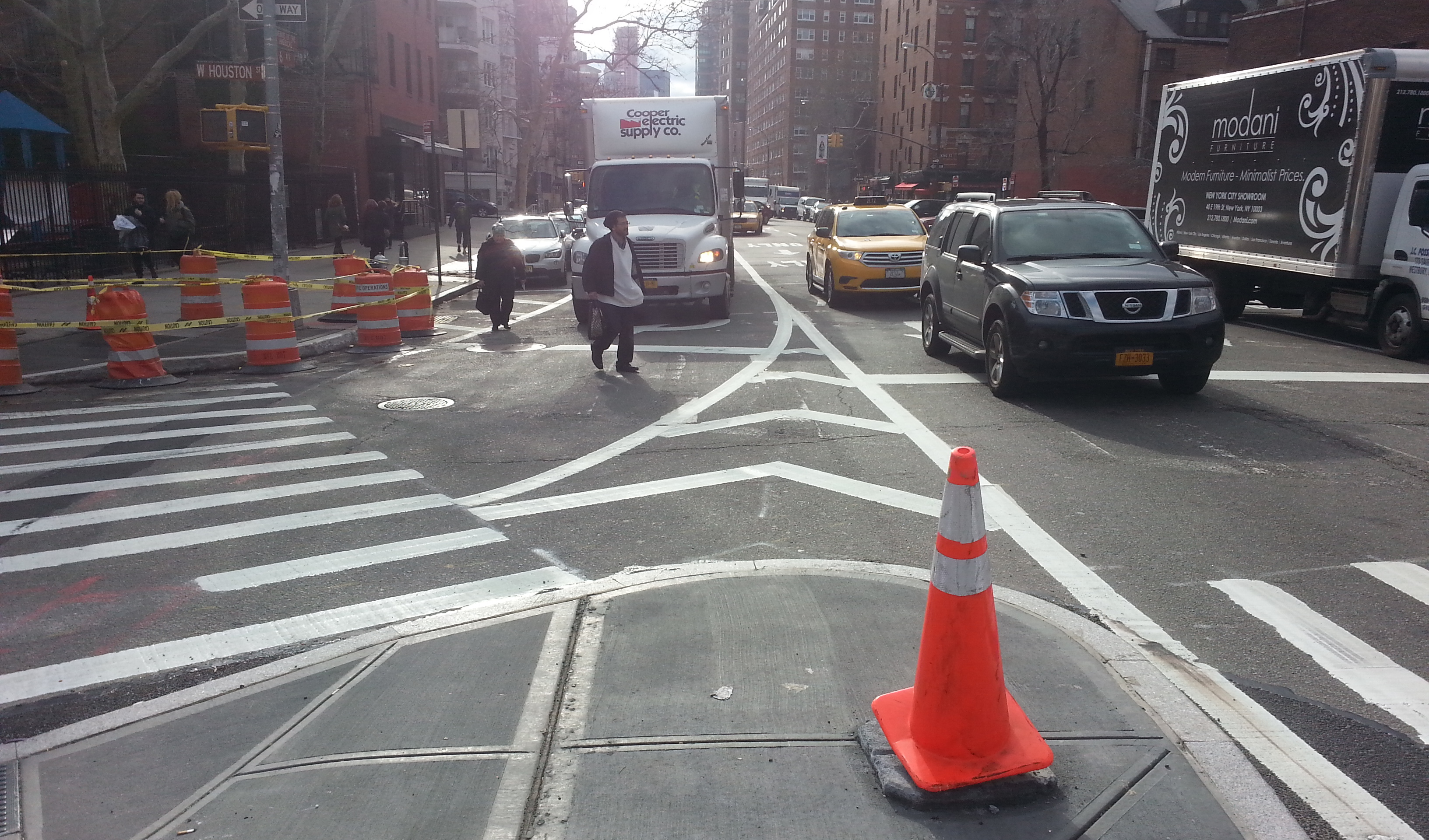 Putting Ped Back Into Pedestrian With >> Eyes On The Street Super Sized Ped Space At Deadly Sixth And