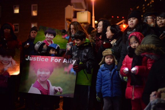 Nearly 100 people attended a vigil last night for Allison Liao and demanded reforms from the state DMV. Photo: Anna Zivarts/Flickr