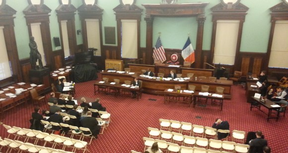 Today's transportation committee budget hearing. Photo: Stephen Miller