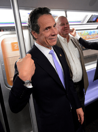 "Andrew ""Straphanger"" Cuomo. Photo: MTA/Flickr"