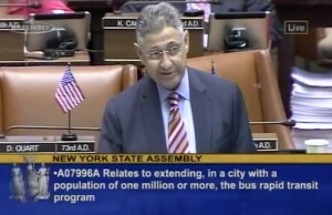 Shelly Silver lets us know what he really thinks about bus lane enforcement. Image: NYSAssemblyMinority/YouTube