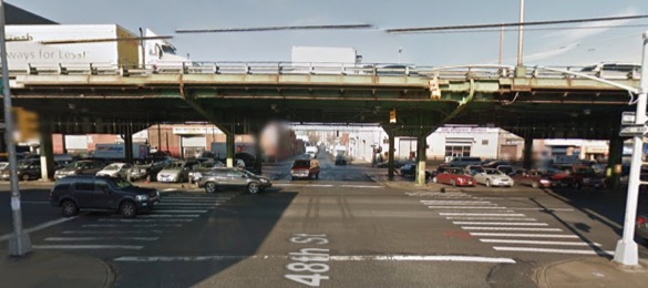 A driver killed Rigoberto Diaz as he biked through the intersection of 48th Street and Third Avenue in Sunset Park. Image: Google Maps