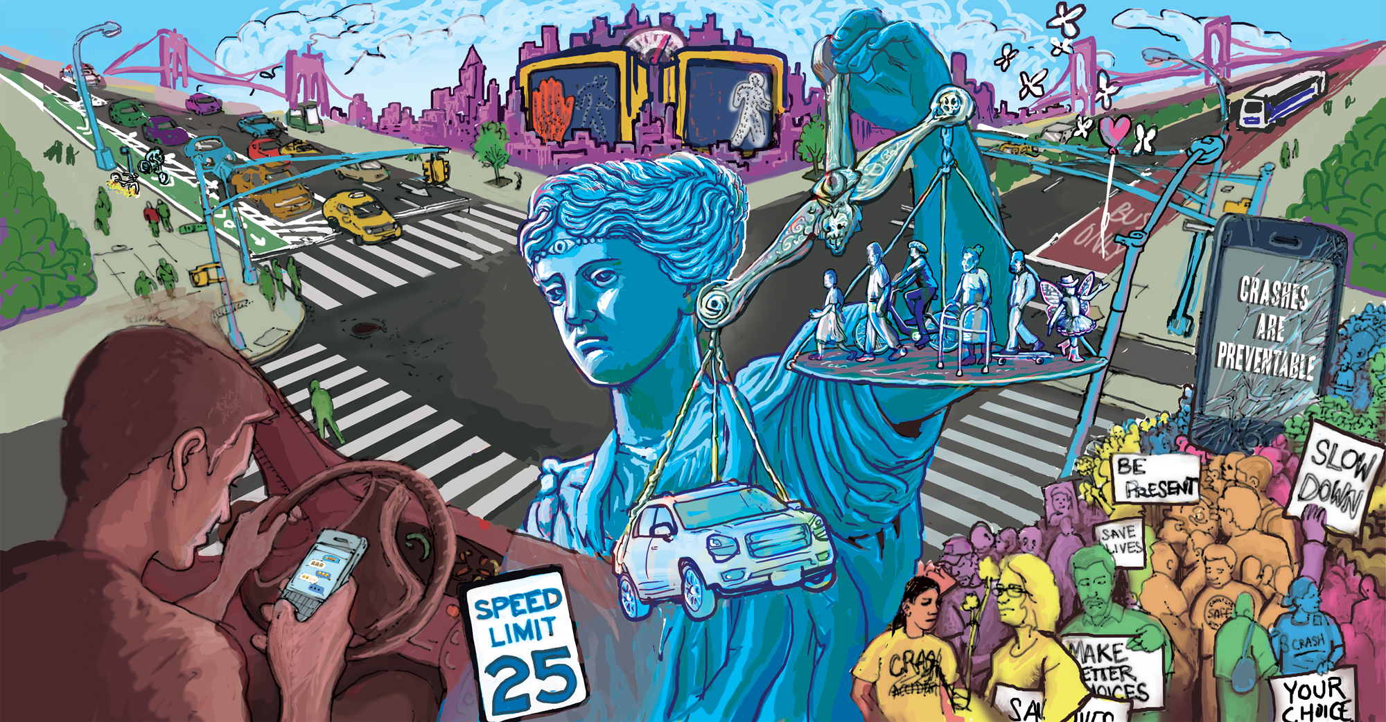 Vision Zero mural. Image courtesy Groundswell