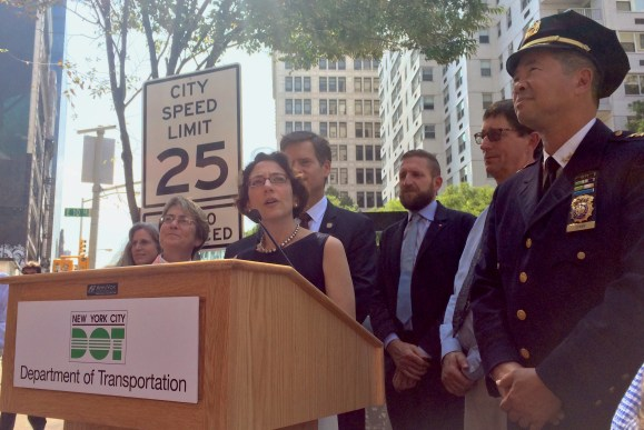 Transportation Commissioner Polly Trottenberg says that, as of today, DOT has installed as many safety cameras as Albany will allow. Photo: Stephen Miller