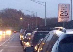 A new 25 mph sign on the Riverside Drive 125th Street viaduct. Photo: Delphine S. Taylor