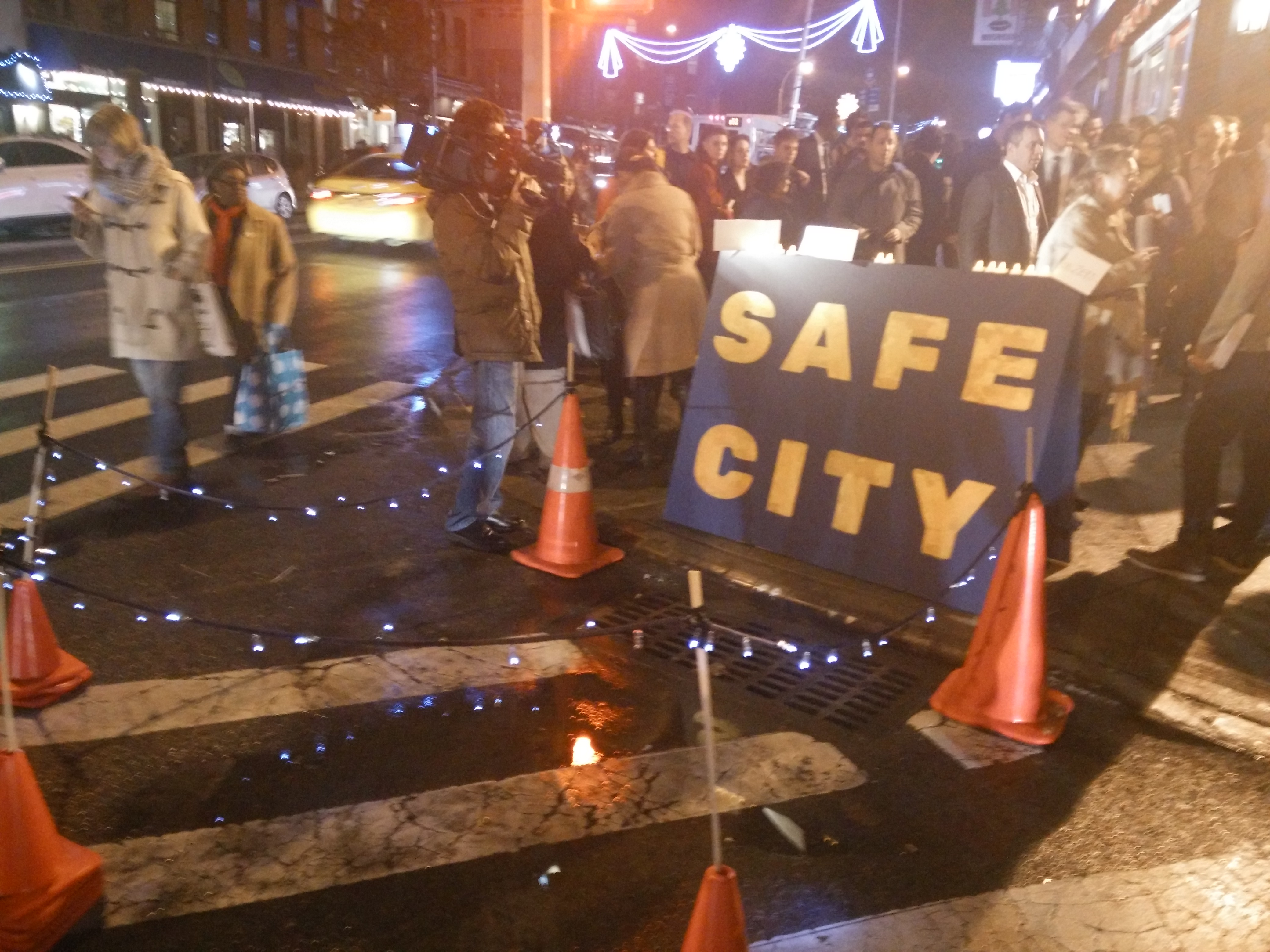 Nicodemus' colleagues at Indiewalls hope their art installation draws attention to traffic violence and Vision Zero. Photo: David Meyer