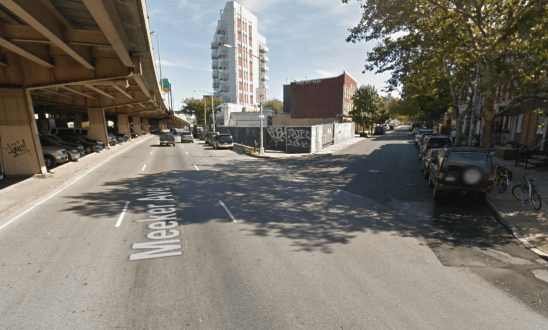 The intersection with Skillman Avenue is just one of many unsafe crossing along Meeker Avenue in Williamsburg/Greenpoint. Image: Google Maps