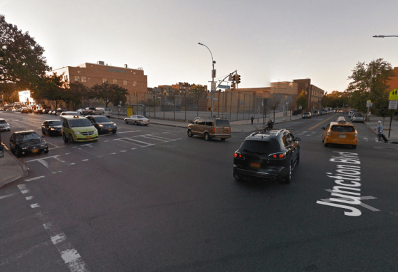 A hit and run driver traveling west on Northern Boulevard killed 17-year-old Ovidio Jaramillo last Tuesday night as he crossed the street from its northern end. Image: Google Maps
