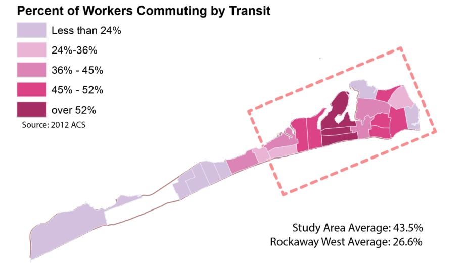 DOT hopes to improve transit access in the Eastern Rockaways, where many residents do not own cars and suffer from long commutes. Image: DOT