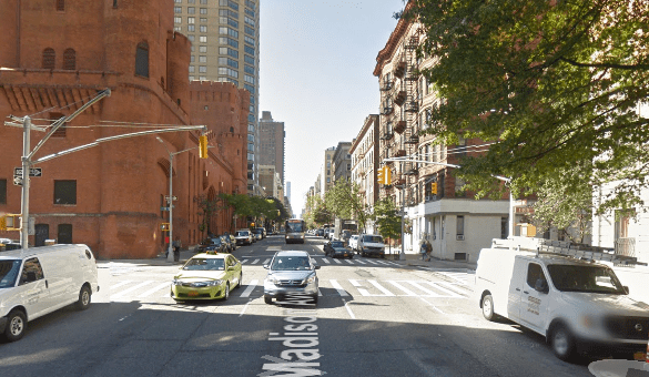 Mary Jo Myszelow was killed by a driver backing up to get a parking spot on Madison Avenue near E. 95th Street. No charges were filed. Image: Google Maps