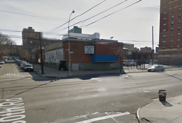 A hit-and-run driver killed a 45-year-old man last night at this intersection in Astoria, where there is neither a crosswalk nor a traffic signal. Image: Google Maps