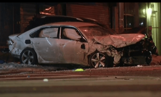 The press reported that Raymond Ramos was chased by police before he crashed into another vehicle and killed Dave Jones on a Brooklyn sidewalk. Image: News 12