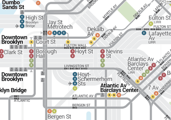 Downtown Brooklyn on the Bullet Map