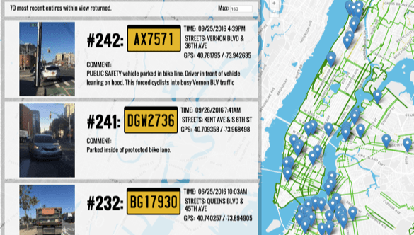 Interactive Map Of New York City.Shame Bike Lane Blockers And City Hall With This Interactive Map