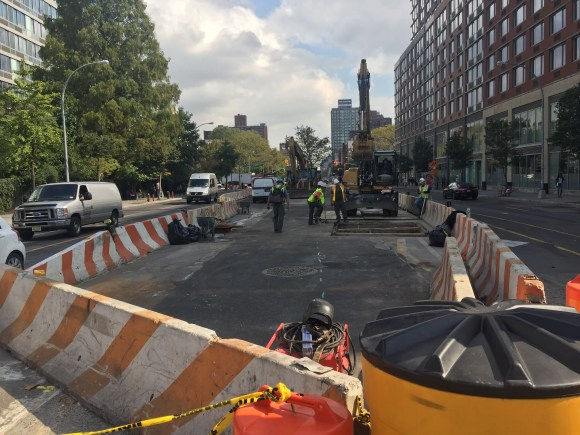 Still working at East Houston and Bowery. Photo: David Meyer