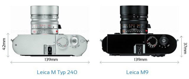 Leica M 240 Review - Size Compare Leica M9