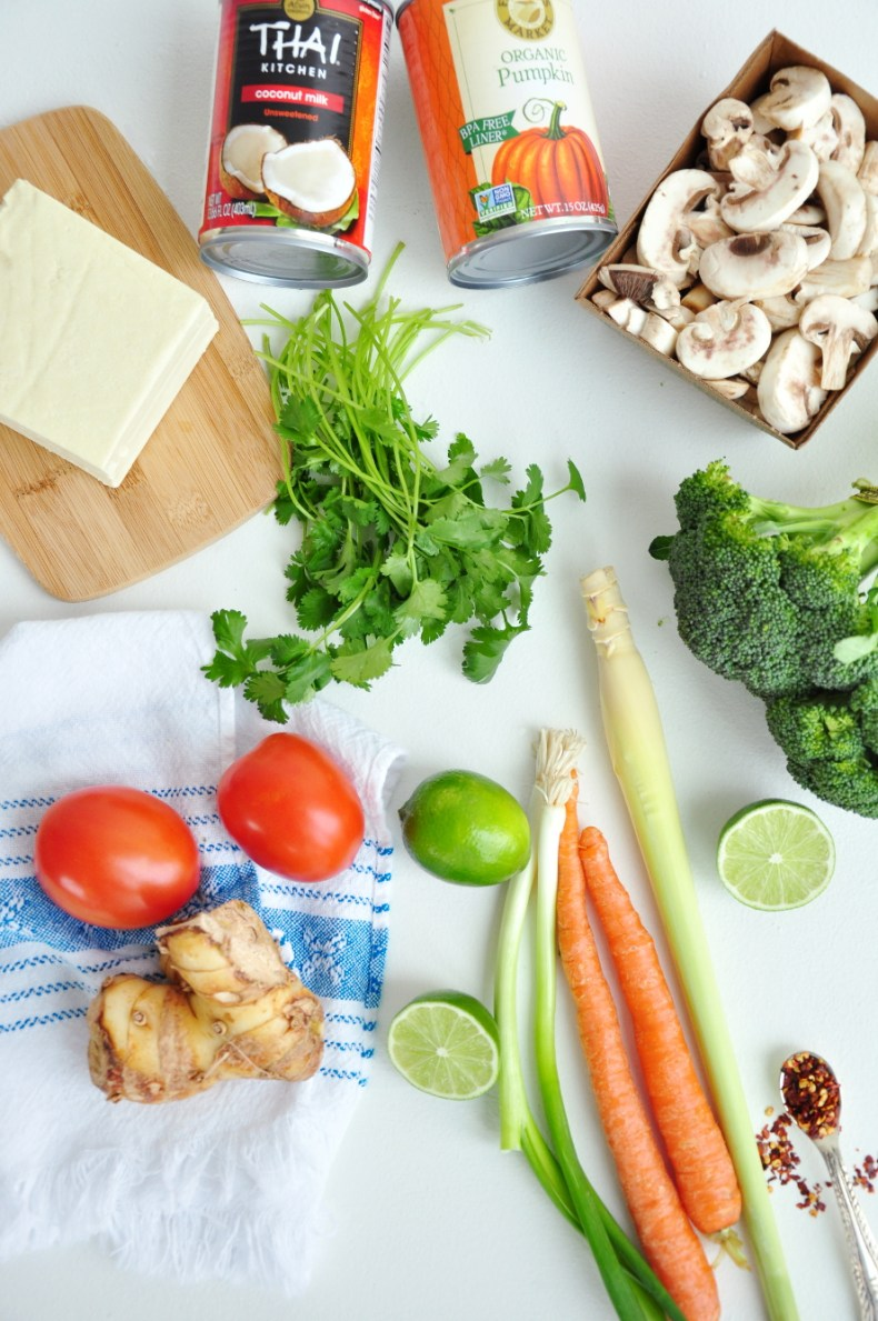 Authentic Thai Vegetable Soup Ingredients