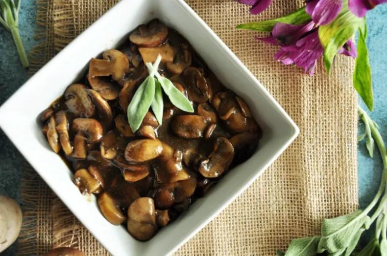 Gluten-Free Sage Mushrooms