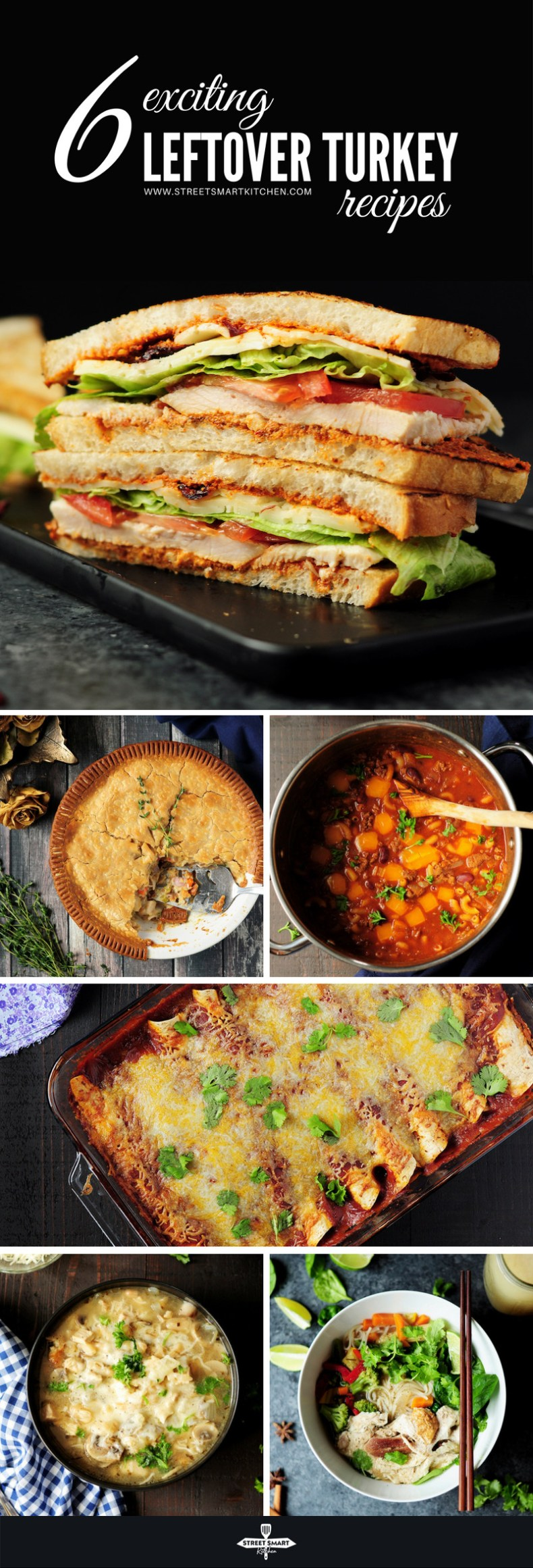 Don't miss out on these six leftover turkey recipes to create exciting new dishes out of the rest of your bird after Thanksgiving.