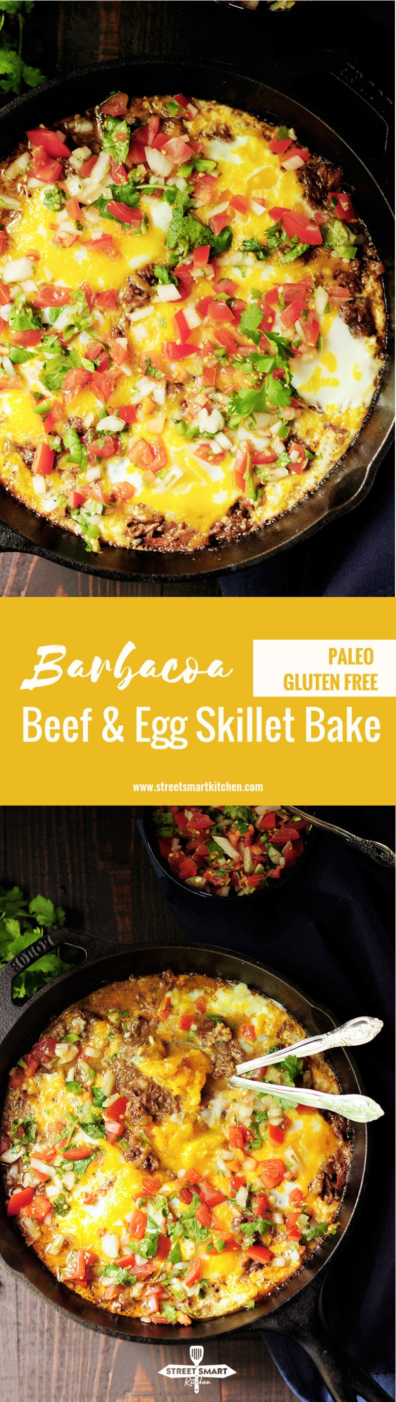 Barbacoa Beef and Egg Skillet Bake