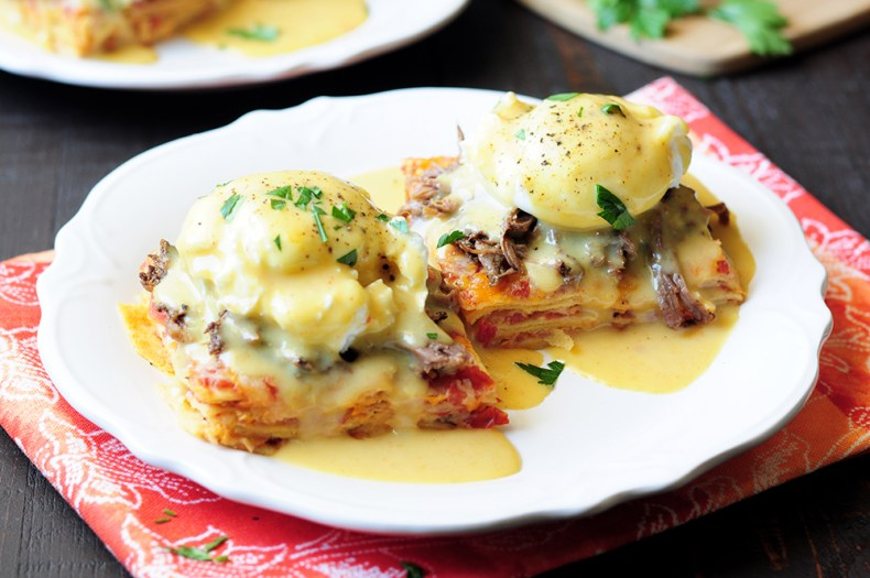 Chilaquiles Eggs Benedict Recipe