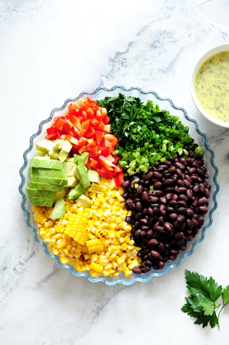Ingredients for Corn and Black Bean Salad