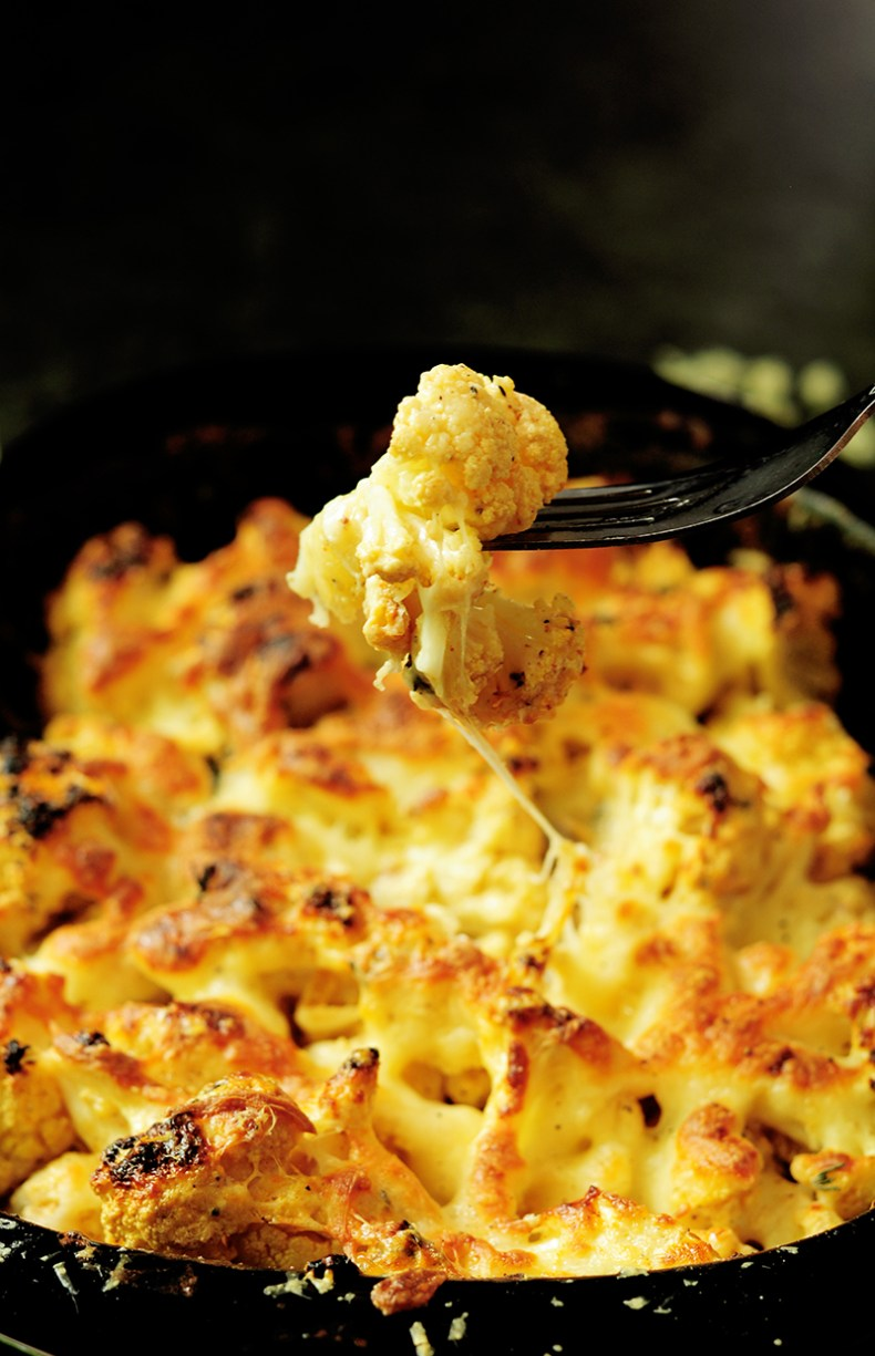 Enjoy a delicious, healthier twist on a classic potato gratin that showcases cauliflower as the vegetable. This cauliflower gratin makes an exciting side dish that gets your family to eat more vegetables!