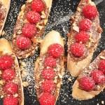Chocolate-Hazelnut & Raspberry Toast