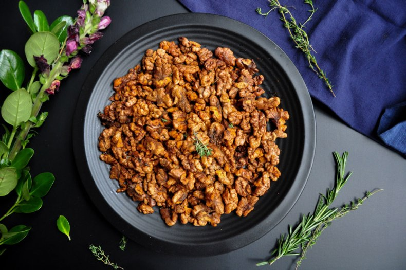 Spiced Roasted Walnuts (Vegan & GF)