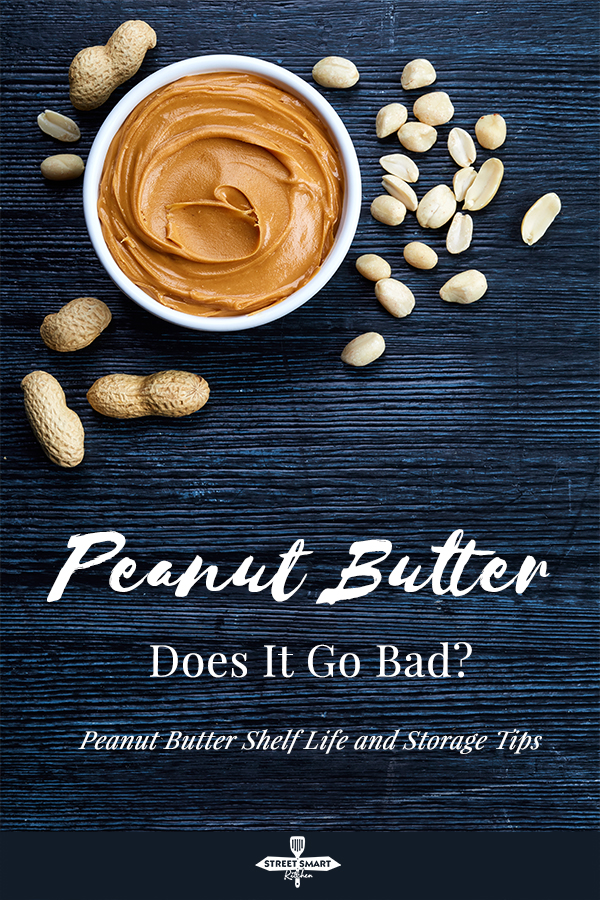 Does peanut butter go bad? Yes. Peanut butter has a long shelf life but it can go bad. Find out how long peanut butter can last and the signs of spoiled peanut butter.